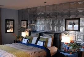 tin ceiling tile bedroom wall ideas pinterest for tiles prepare 4 on recycled tin ceiling tile wall art with faux headboard feature wall art made from reclaimed tin ceiling