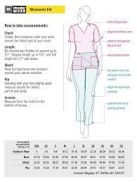 Waist To Knee Measurement Chart Wonderwink Nursing Scrub Size Charts