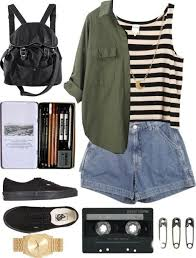 Image result for khaki and stripes