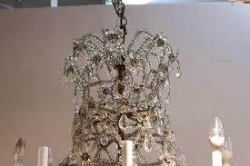 antique austrian rock crystal chandelier crown