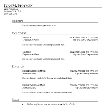 Resume Template Fill In Awesome Simple Resume Template Resume Template Fill In Simple Resume Template