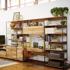 Office shelving solutions Wood West Elm Industrial Modular 49