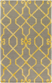 surya organic amanda light grey yellow area rug