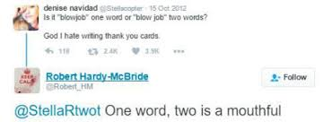 thank you one word or two is blow job one word or two 10 answers that are so funny popxo