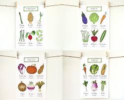 Kitchen Art Kitchen Art Posters Vegetable Art 4 Seasons Kitchen Art