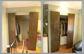 And here your have barn-style doors for your closets. I still plan to stain  these doors a dark brown but I was so excited to post on instructables that  I ...