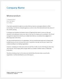 Sample Of Memorandum Letter Memo On Failure To Follow Instructions Word Excel Templates