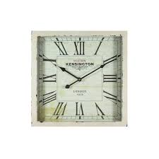 square wooden wall clock by yosemite
