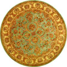safavieh heritage blue area rug 6 x 6 round