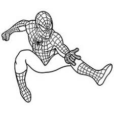 spiderman to color. Interesting Color Super Powers Of Spiderman Shoots His Web To Color On To N