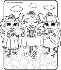 Small Picture Stunning Princess Tea Party Coloring Pages Images Printable