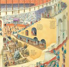 Cross Section Of An Amphitheater Roman History Ancient