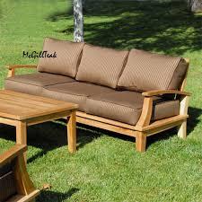 teak outdoor patio deep seating sofa bali lounge bench