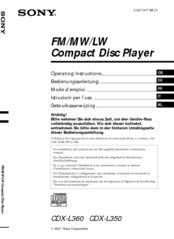 sony cdx l350 fm am compact disc player manuals sony cdx l350 wiring diagram we have 8 sony cdx l350 fm am compact disc player manuals available for free pdf download operating instructions manual,
