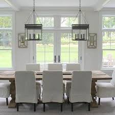 skirted slipcovered dining chairs view full size transitional dining room
