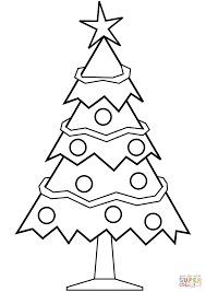 Small Picture Simple Christmas Tree coloring page Free Printable Coloring Pages