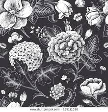 black and white vintage floral wallpaper.  White We Are Creating Many Vector Designs In Our Studio BSGStudio The New  Will Be Published Daily To Black And White Vintage Floral Wallpaper E