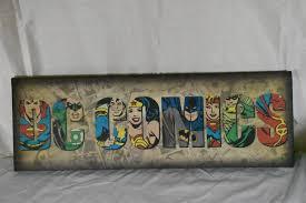 dc comics canvas print wall art sign