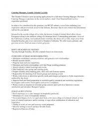 caterer resume template caterer resume
