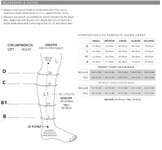 Compreflex Sizing Chart Sigvaris Compreflex Lite Below Knee W 10 15 Mmhg Socks Low Stretch