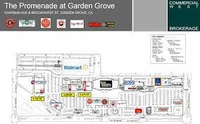 directory and map of promenade at garden grove