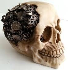 Steampunk Cyber Futuristic <b>Gothic SKULL</b> Skeleton HEAD ...