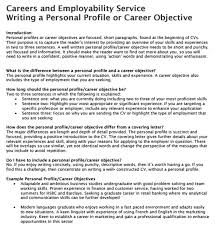 Cv Personal Profile Examples 16 Personal Summary Examples Pdf Examples