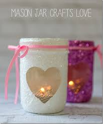 Decorate Jar Candles Valentine Glitter Votives Mason Jar Crafts Love 44
