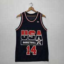Vtp Champion Alonzo Mourning Jersey Team Usa Olympics 14
