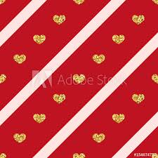 gold heart seamless pattern golden glitter love confetti hearts on pink red line background diagonal stripe design valentine day wedding wallpaper