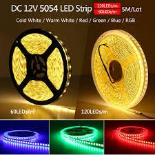 Giá bán Dây đèn LED DC12V 5054 mềm dẻo màu đỏ/xanh dương/xanh lá/trắng sáng  hơn loại 5050