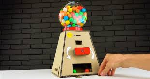 How To Make A Candy Vending Machine Out Of Cardboard Inspiration DIY Gumball Machine Money Operated From Cardboard At Home Sia Magazine