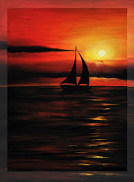 Simple Painting Simple Sunset Painting Wallpaper