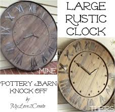 mylove2create large rustic clock