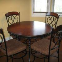 wood and wrought iron furniture. Furniture. Black Wrought Iron Tables And Chairs Having Round Brown Wooden Top Square Wood Furniture G