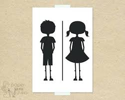 Kids bathroom sign Farmhouse Kid Bathroom Sign Little Girl Boy Bathroom Sign Fun Toilet Symbol Boy And Girl Bathroom Symbol Adultfindco Kid Bathroom Sign Little Girl Boy Bathroom Sign Fun Toilet Symbol