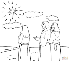 Coloring Pages Christmas Stars Pages Star For Of Bethlehem Page ...