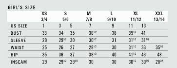 Fox Gear Size Chart Sizing Chart