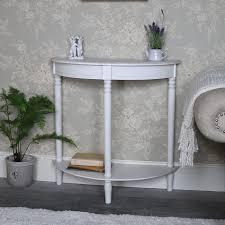 antique white half moon console table u2013 mia range half moon console table i73