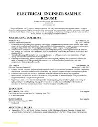 91 Electrical Engineer Resume Template Electrical Engineer Resume