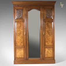 vintage antique furniture wardrobe walnut armoire. Antique Wardrobe, Victorian Mirrored Cupboard C.1880 - London Fine Antiques Vintage Furniture Wardrobe Walnut Armoire