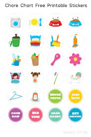 Chore Sticker Chart Printable Free Printable Chore Chart Stickers Sarah Titus