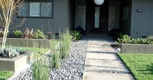 garden pavement modern backyard yard