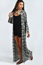 Martha Aztec Print Maxi Kimono Jacket | Kläder