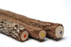 Download Three Unusual Pencils With A Multi-coloured Core Stock Photo -  Image of machine