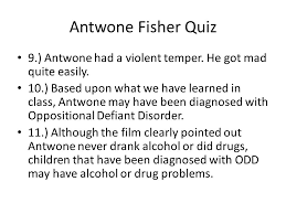 antwone fisher quiz antwone fisher was born in a state  4 antwone