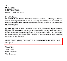Customer Apology Letter Examples Enchanting How To Write An Event Cancellation Email NEWOLDSTAMP