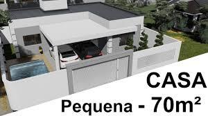 Ver más ideas sobre planos de casas, diseños de casas, casas de campo. Casa Pequena Em L De 70 M2 Com Piscina Youtube
