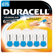 Hearing Aid Battery Sizes Chart Duracell Da 675n6 Hearing Aid Battery B00009v2r5 Amazon