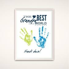 grandpa gifts fathers day grandpa gift from grandkids printable handprint art gift for grandpa diy handprint art grandad birthday gift
